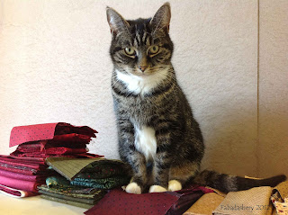 Suzi Cat on Easy Street Quilt Fabric