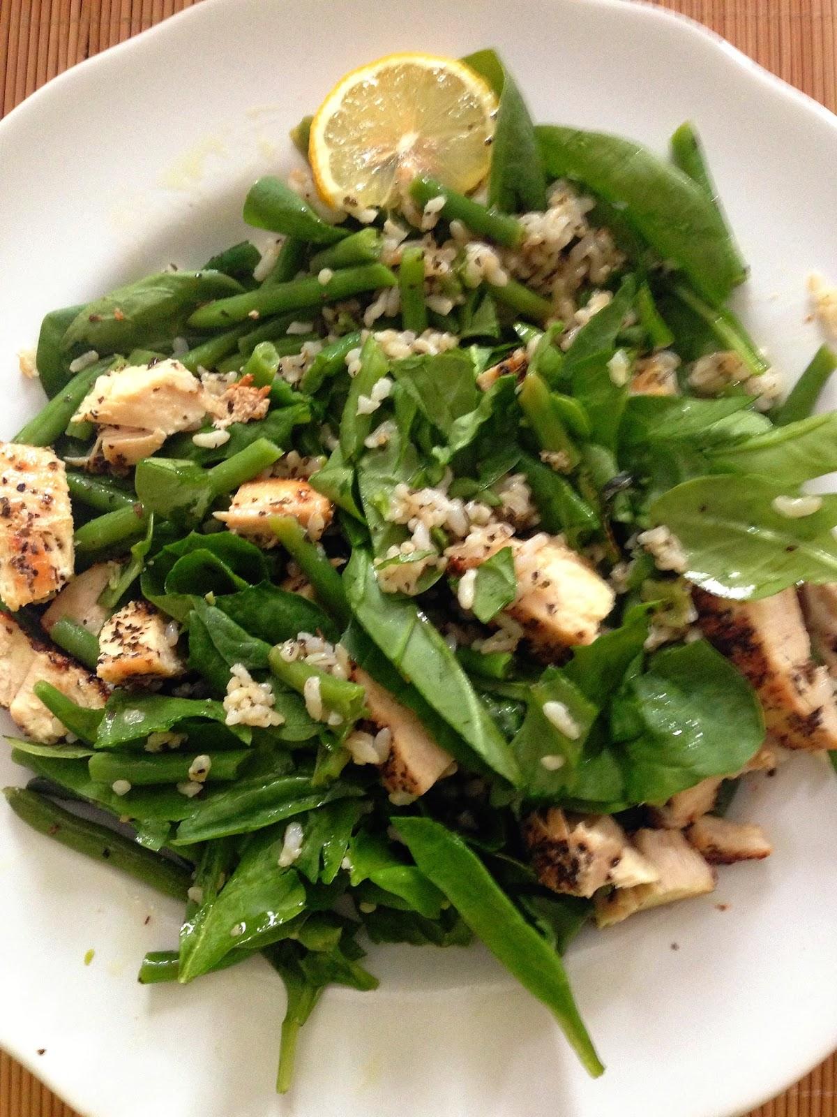 Taylor Made Lemon Basil Spinach Salad With Warm Brown