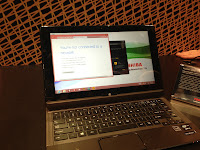 Toshiba tablet in laptop mode