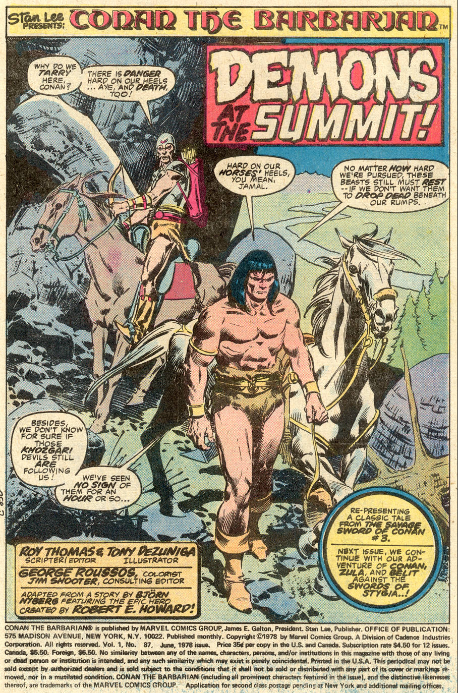 Conan the Barbarian (1970) Issue #87 #99 - English 2