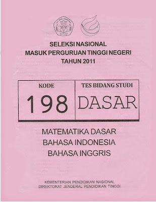 Naskah Soal Snmptn 2011 Tes Bidang Studi Dasar Kode Soal 198