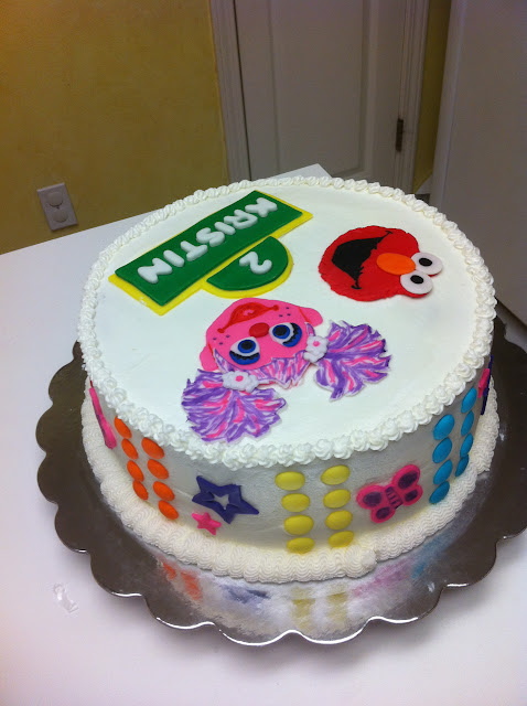 Elmo And Abby Cake Decoration : Gingerly Created Confections: Abby Cadabby and Elmo ...