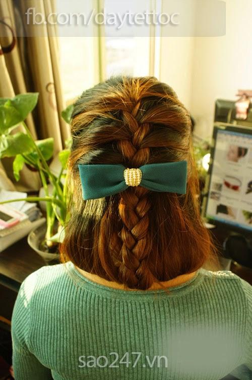 Hướng dẫn cách tết tóc nữ tính cho bạn gái. share nhé mọi người