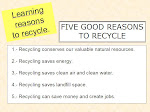 Five good reasons to recycle
