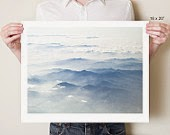 Blue Japanese Mountains photograph print