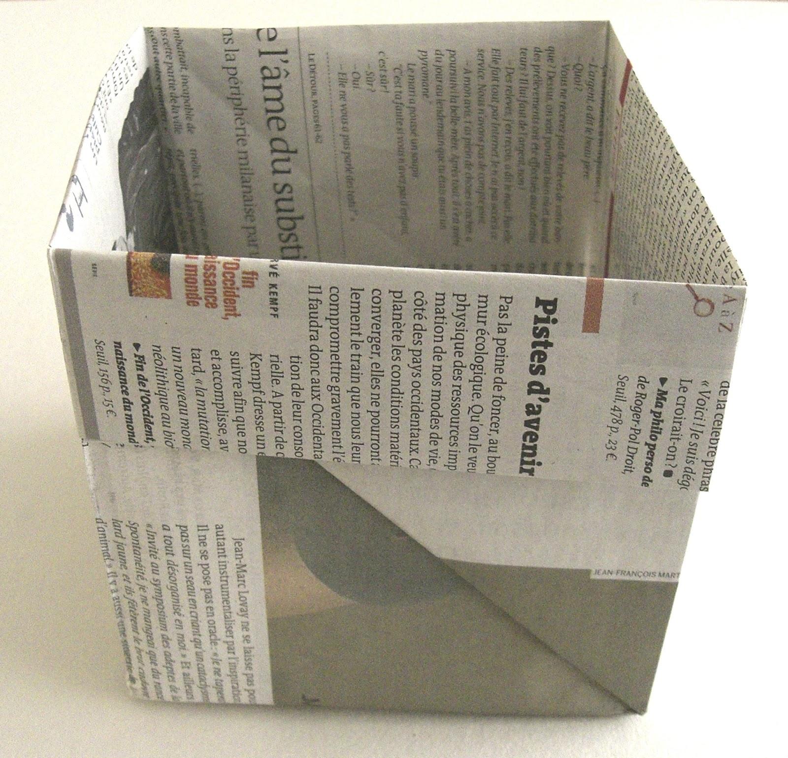 Gabulle in wonderland diy origami panier en papier journal - Meuble papier journal ...