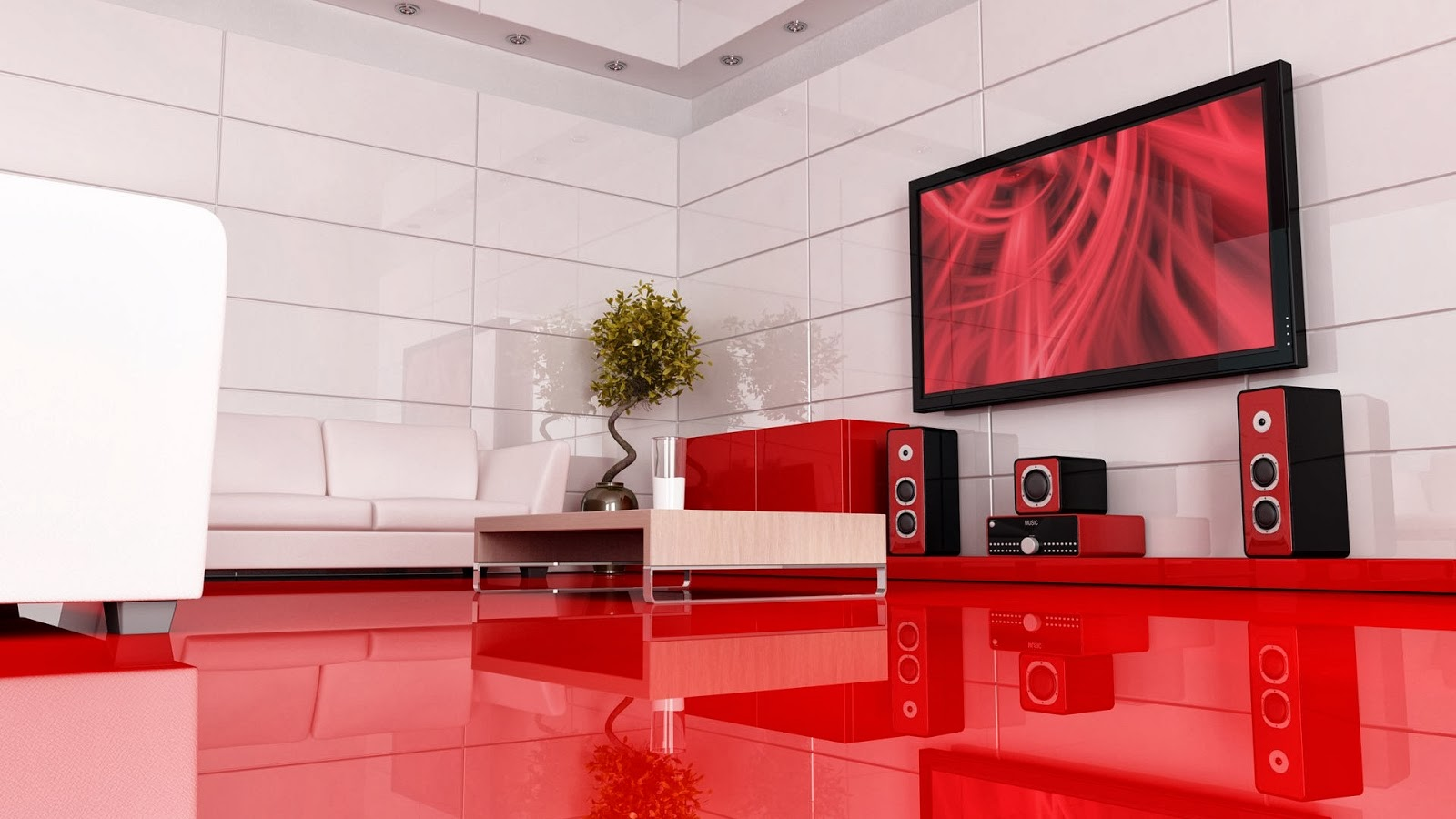 DESIGN DE AMBIENTES (SALA DE TV / HOME THEATER) title=