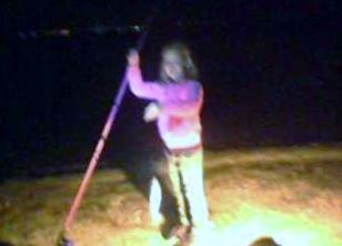 Rachel first fish