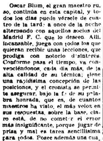 Fragmento de artículo en El Sol de fecha 12 de mayo de 1936