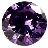 Amethyst Round CZ Gems