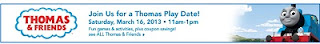 Free Thomas & Friends Play Date Event at Toys R Us