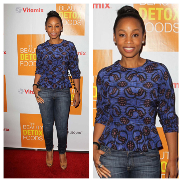 Celebrities in African print Anika Noni Rose.