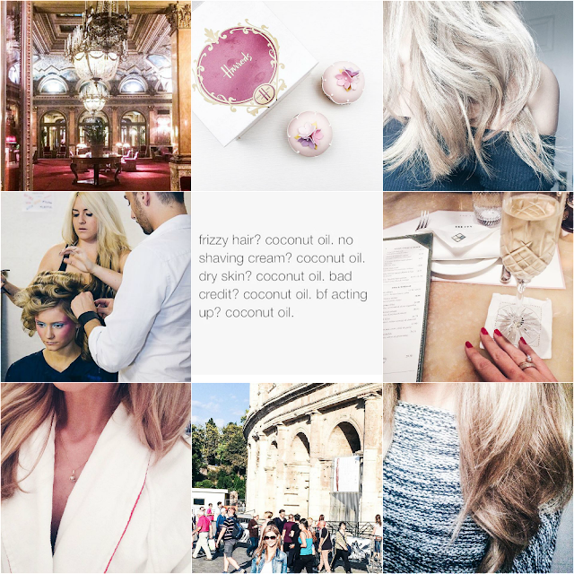 Instagram diary with rome, london, the ivy, the grand plaza, lfw, blonde, brunette,