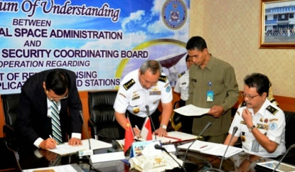 Penandatanganan MoU Bakorkamla dan CNSA. PROKIMAL ONLINE Kotabumi Lampung Utara