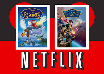 Netflix Treasure Planet Rescuers added addtions Disney stream