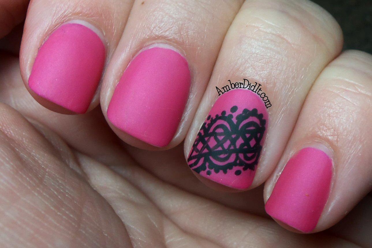 Amber did it!: Lace Nail Art