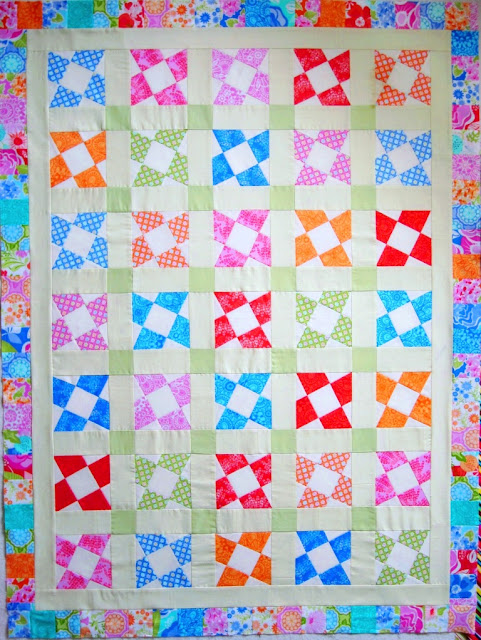 9 patch quilt - Jelly Roll Variation - BasiX template