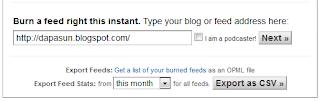 Mengisi url blog ke feed burner