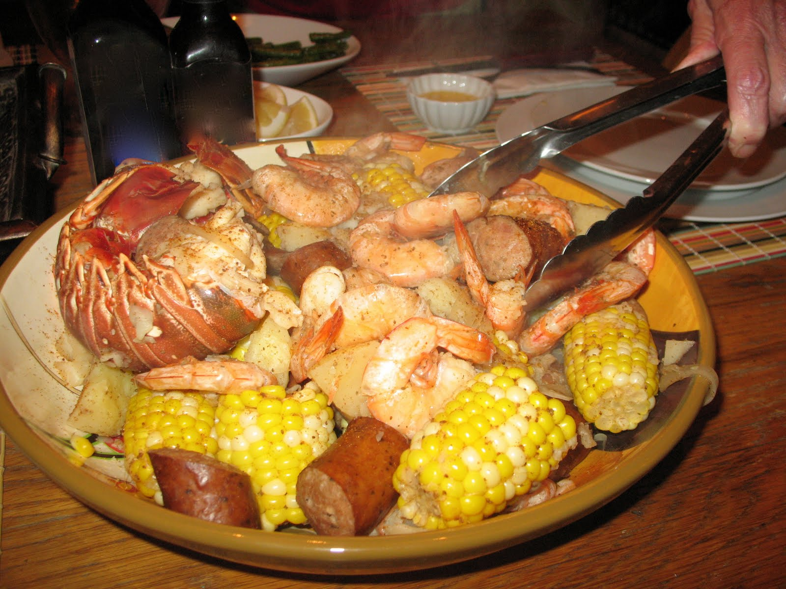 simmer cooking: Louisiana Shrimp & Lobster Boil