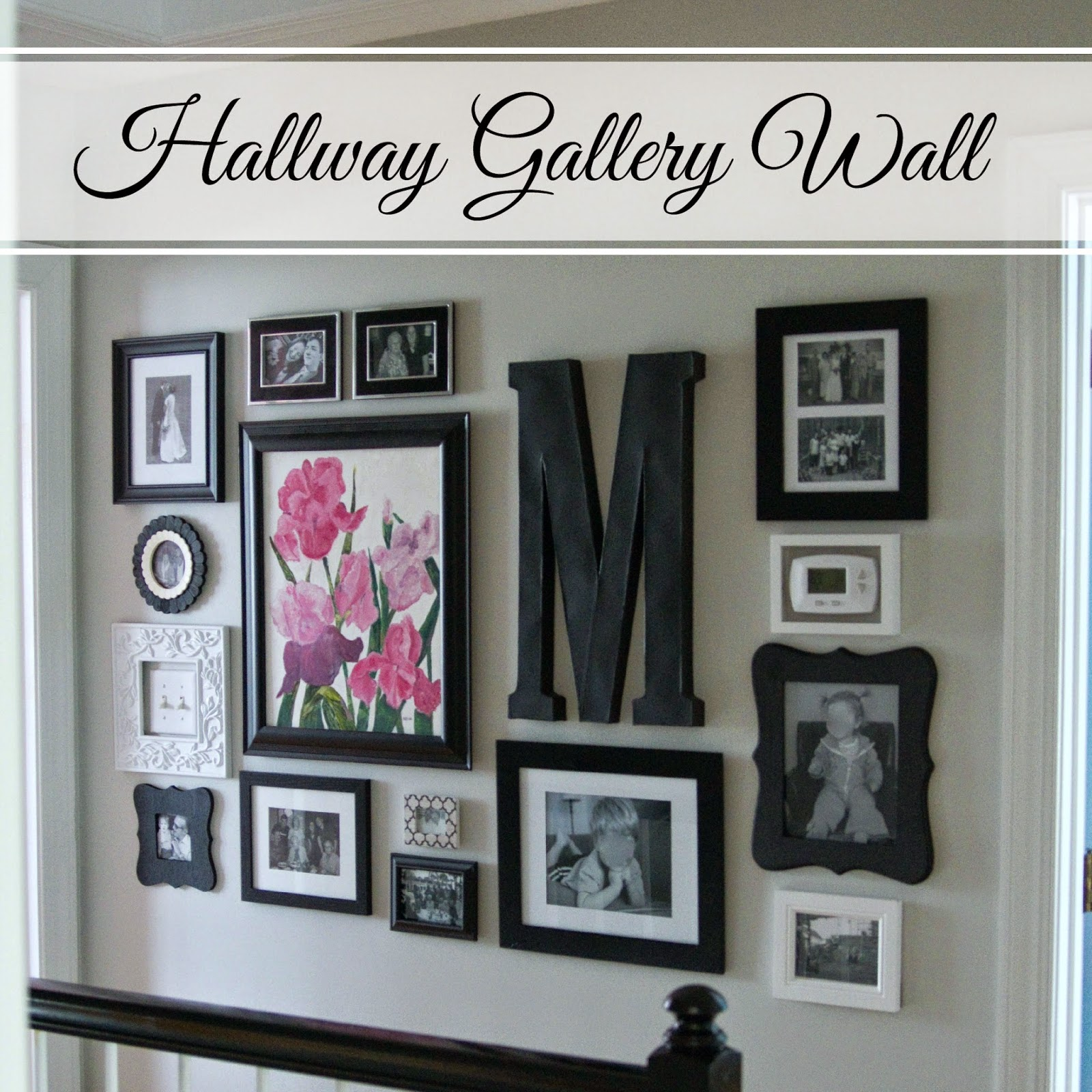 Hallway gallery wall for Wall decoration ideas pinterest