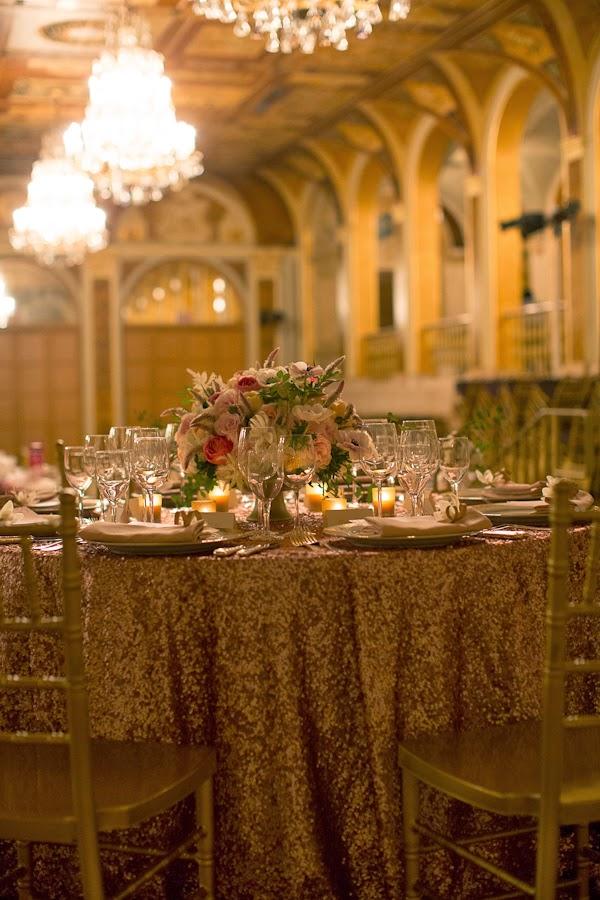The Plaza Hotel NYC Wedding Centerpiece Arrangement