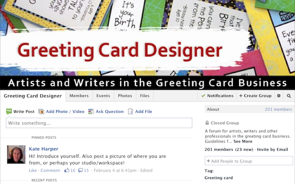 https://www.facebook.com/groups/greetingcarddesigner/