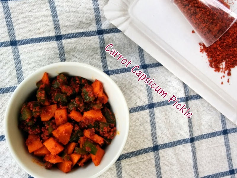 Carrot Capsicum Pickle