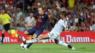 Barça - Real-Madrid Supercopa Iniesta