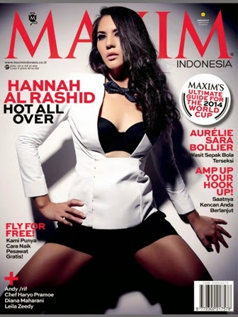 MAXIM Indonesia Magazine Edisi Juni 2014 Cover Model Hannah Al Rashid, Hot All Over
