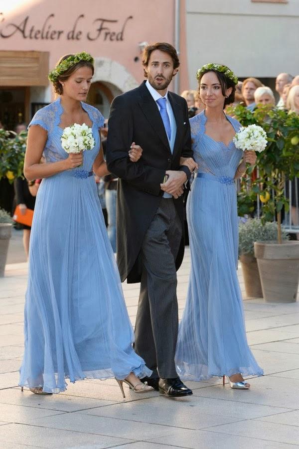... vestidos azul hortência, inspirados no famoso verde Jenny Packham de