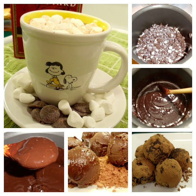 Hot Chocolate Truffle Balls  #KaceyCooks