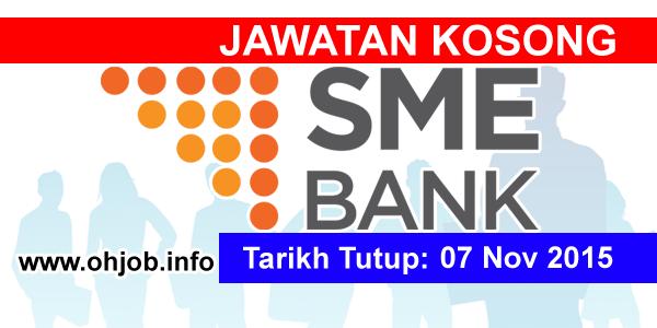 Jawatan Kerja Kosong SME Bank logo www.ohjob.info november 2015
