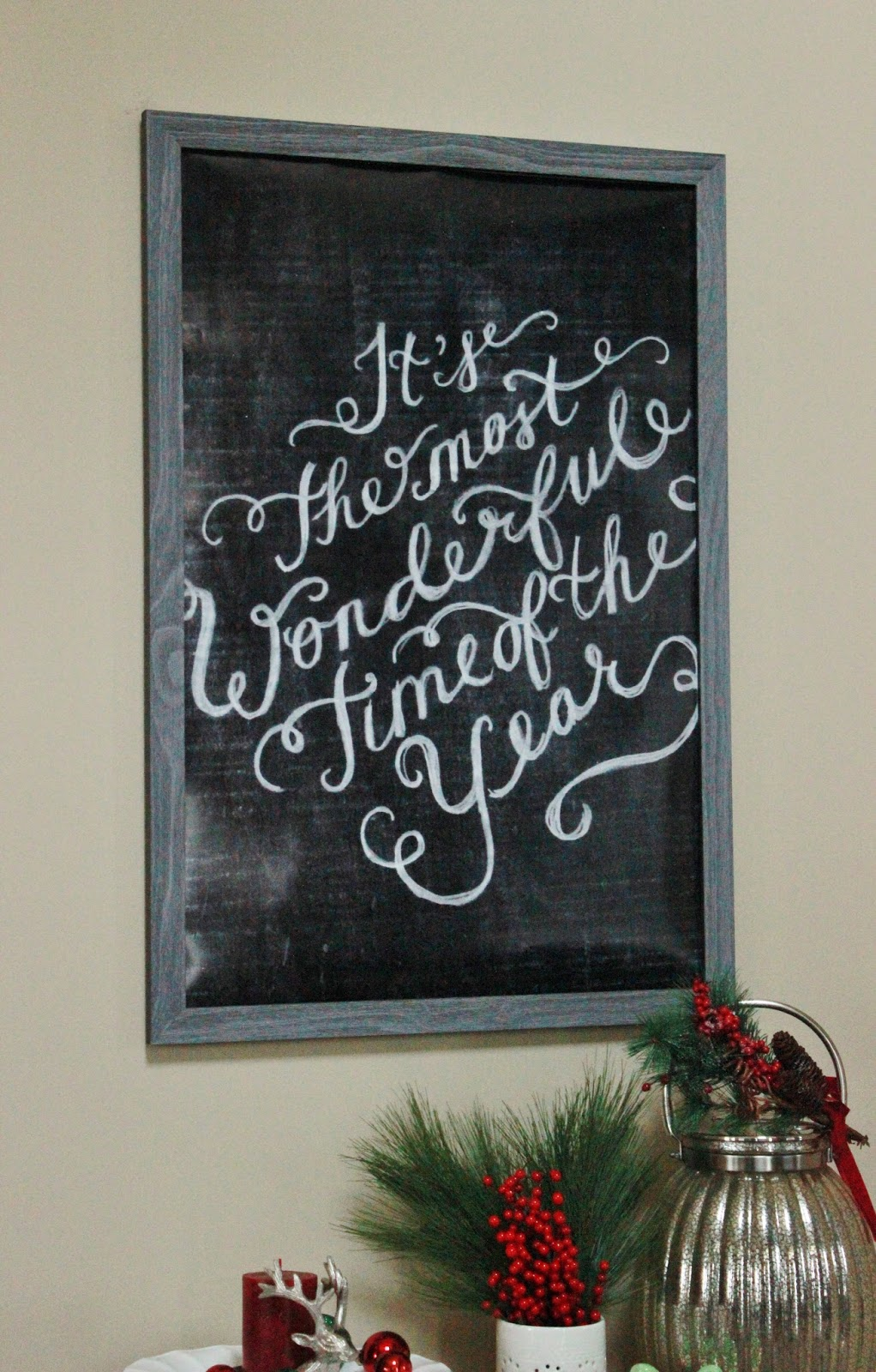 """It's the Most Wonderful Time of the Year"" Chalkboard Wall Art Printable"