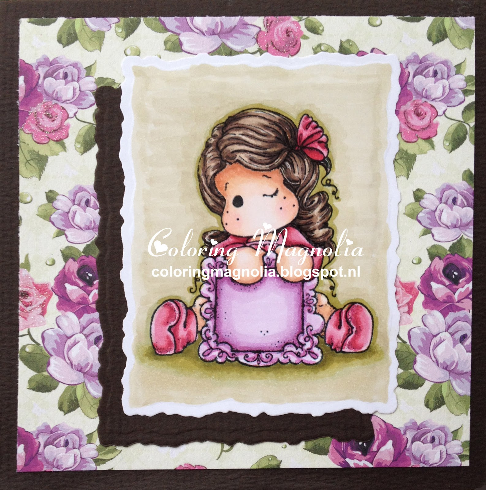 Coloring Magnolia Stamp 2014 Lost And Found Collection - Write a Message Tilda