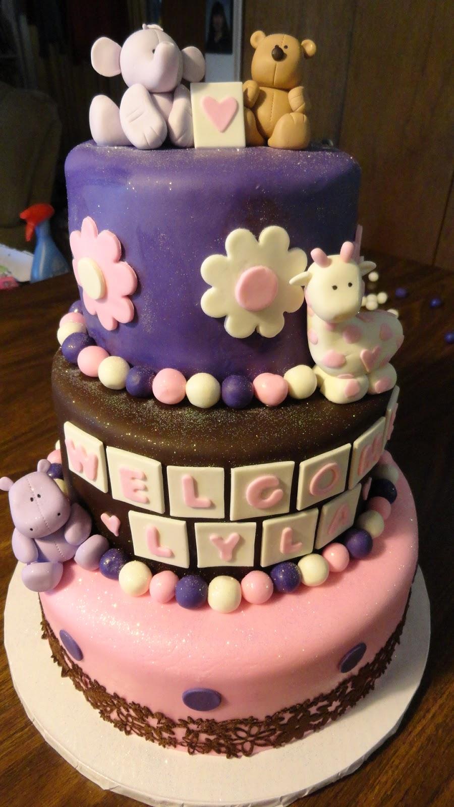 bay cakes animal baby shower cake