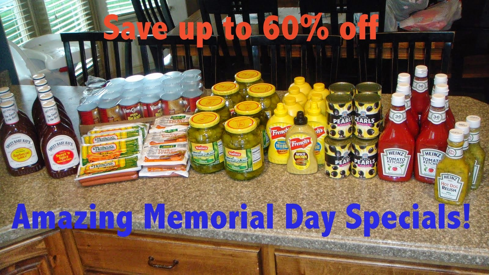 memorial grocery store deals, save 60% on groceries, bbq items on sale, Memorial Day weekend shopping, Deals to Meals, Deals to Meals Updates, Dynamic Deals,