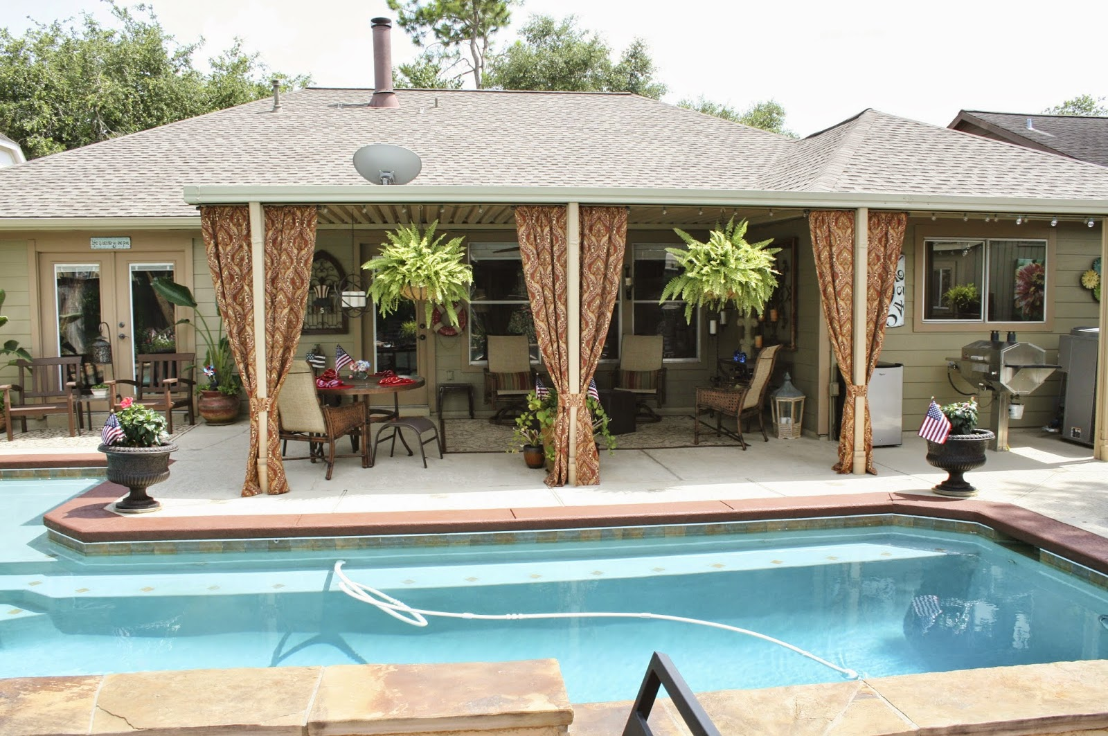 life by the pool it u0027s just better outdoor patio curtains update