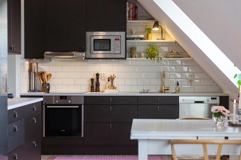 W domu Marty Mieszkania pod skosami -> Mala Kuchnia Ze Skosem