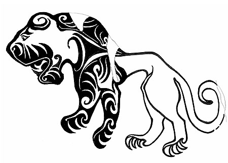 Scythian tiger tattoo