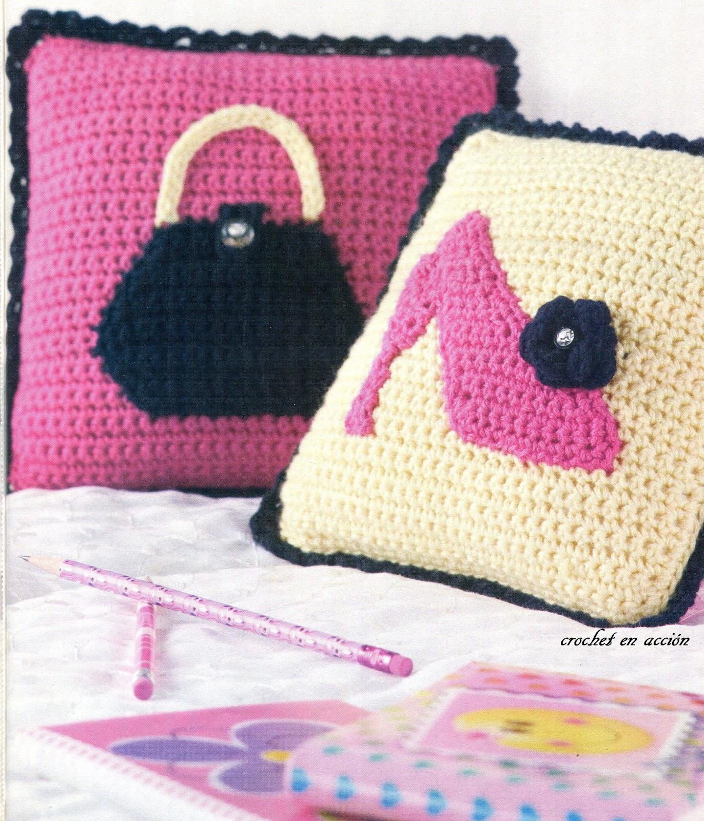 Crochet en acci n cojines juveniles - Cojines para dormitorios juveniles ...