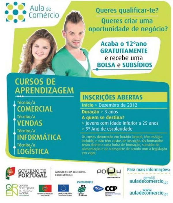 Cursos de formação com bolsa e subsídios para conclusão do 12º ano – Lisboa