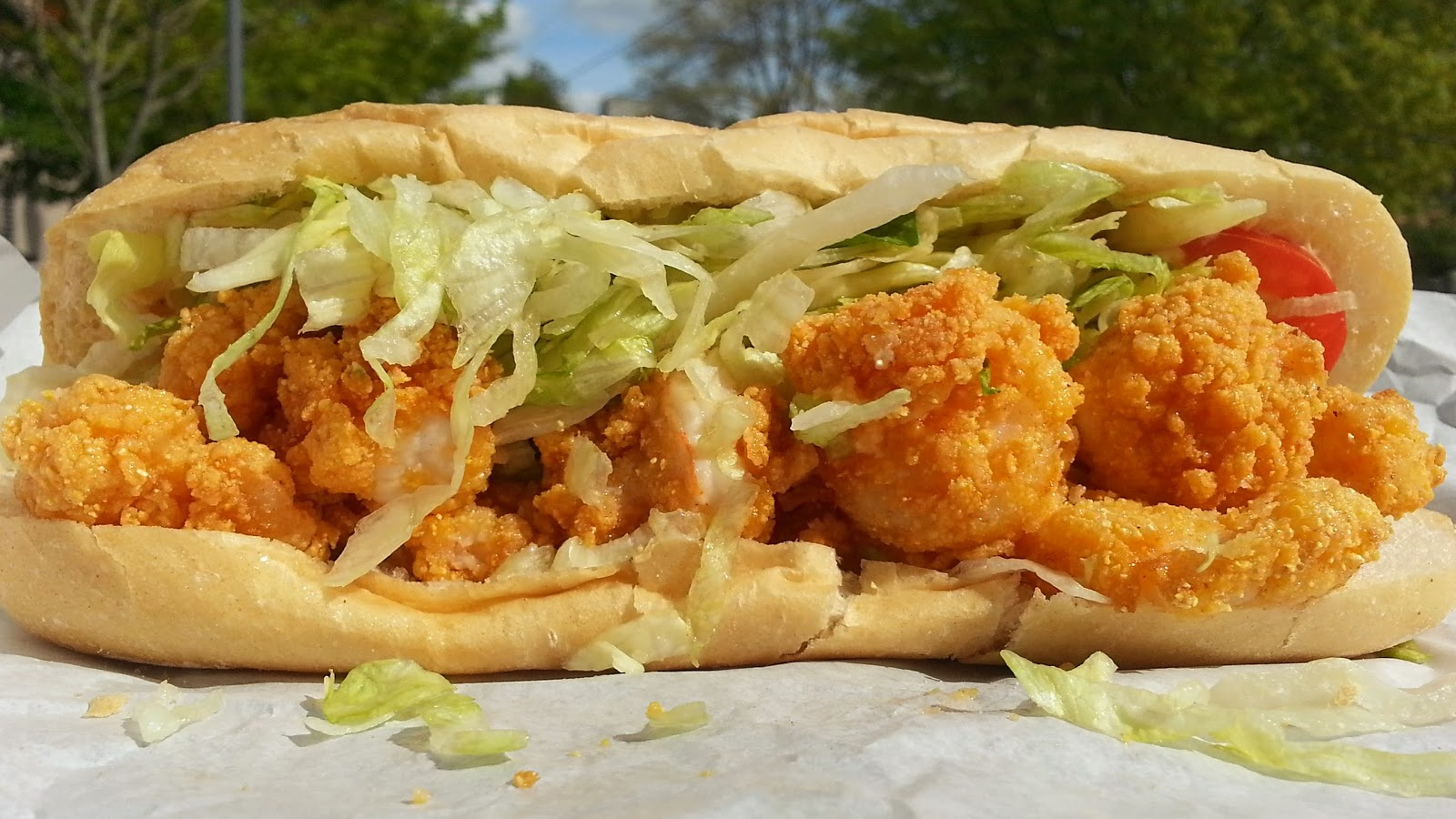 Shrimp Sandwich Po Boy Sandwich of the week: shrimp
