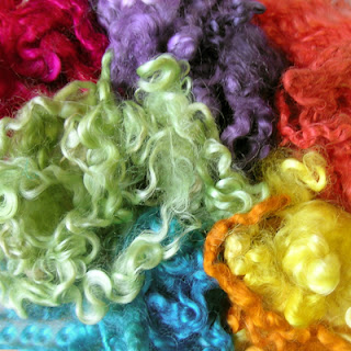 Wensleydale wool dyed with Acid Dyes