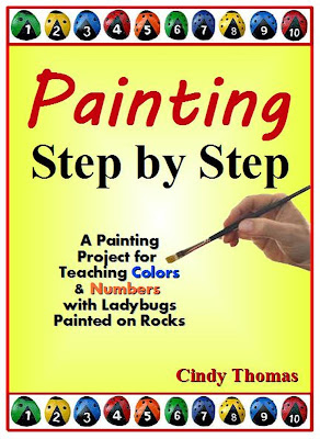 painting rocks, ladybugs, step by step, project
