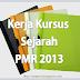 Folio Sejarah PMR 2013 - Contoh Penghargaan Dan Objektif Kajian