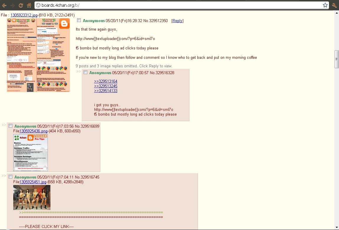 In this moment; http://boards.4chan.org/b/res/329888997