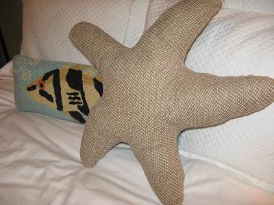 Starfish Pillow - Ocean, Under the Sea Theme, Ocean Theme