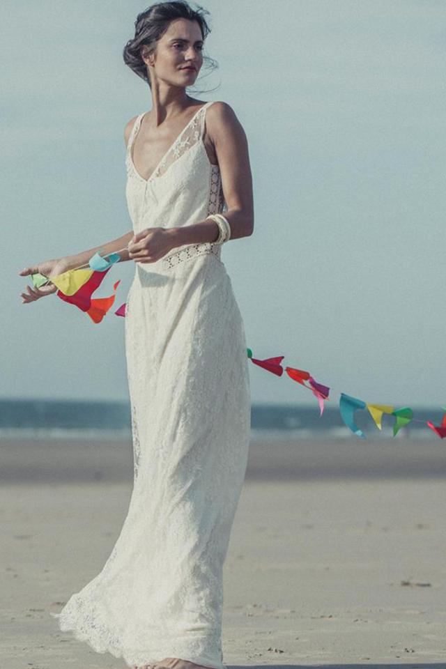 vestidos de novia de Laure de Sagazancc