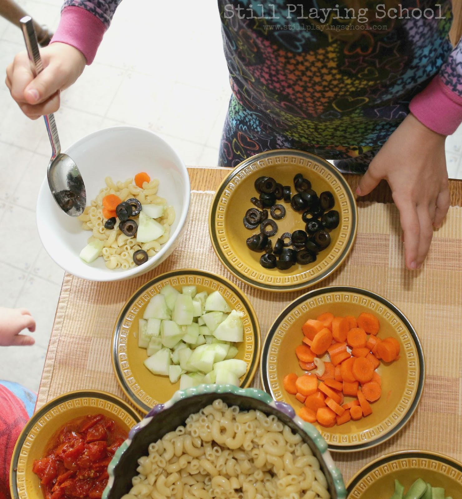 Make Your Own Pasta Salad Bar | Still Playing School
