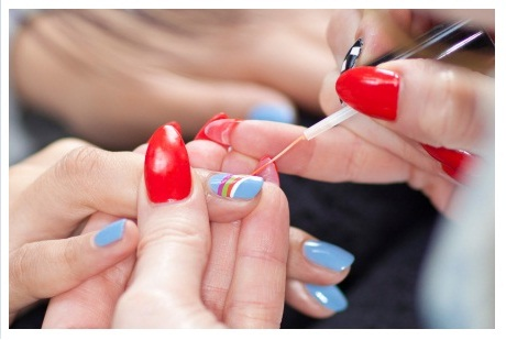 Rainbow Nail Art Step By Step How To Guide